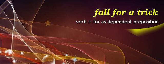 Verb + for as a dependent preposition pattern
