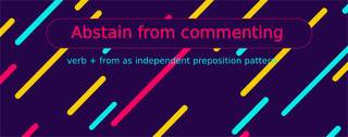 Verb + from as a dependent preposition pattern