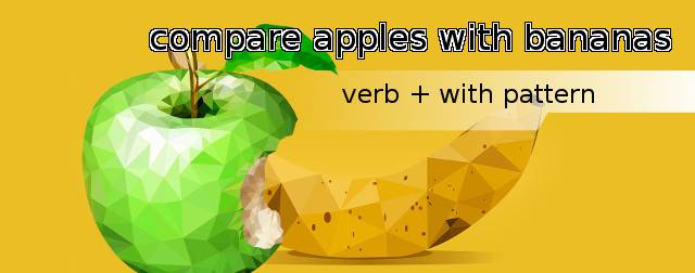 Verb + with as a dependent preposition pattern